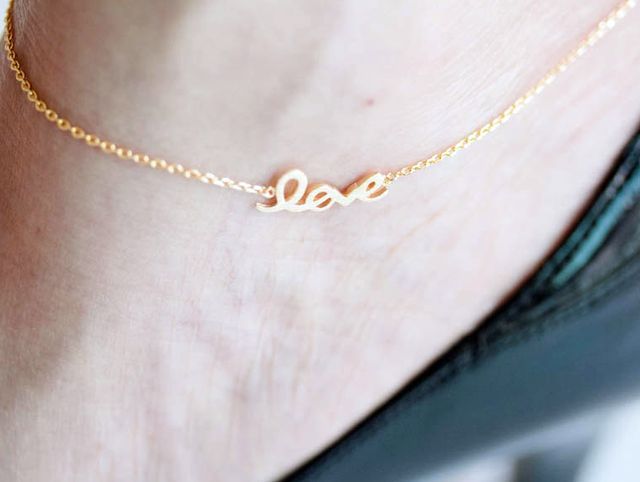 Gold anklet jewelry