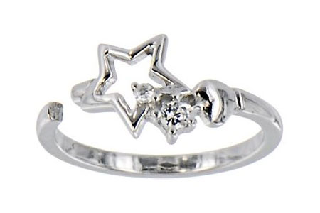 CZ Star Toe Ring