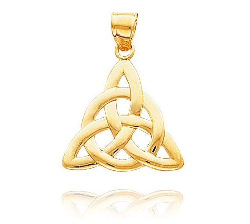 Gold Celtic Trinity Jewelry