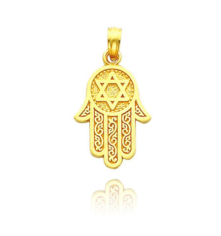 Hamsa with Star of David Pendant