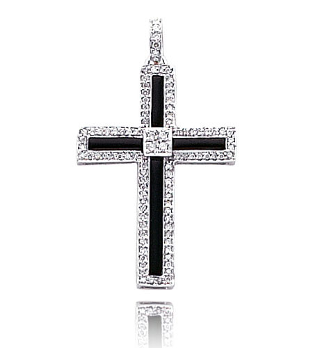 These are of the classic cross designs with rows of diamonds covering their