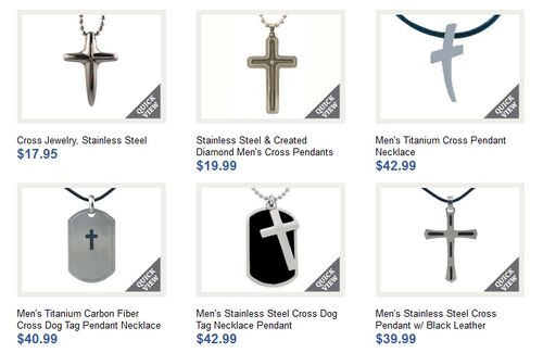 Mens Cross Necklaces