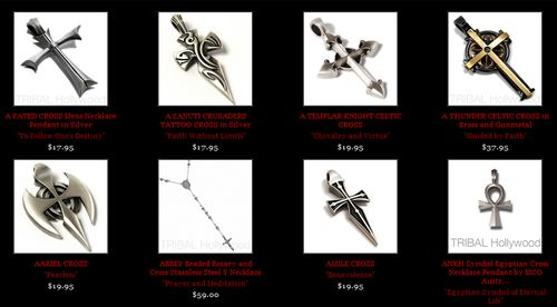 Mens Silver Cross Necklaces