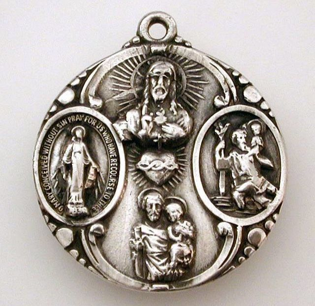 Sterling Catholic Medal
