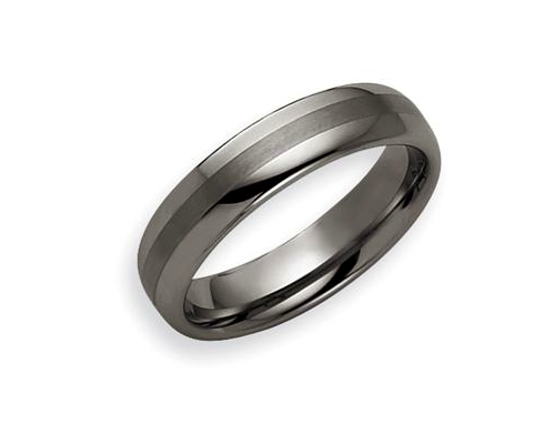 Polished Tungsten Wedding Band