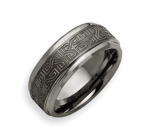 Tungsten Brushed Wedding Band