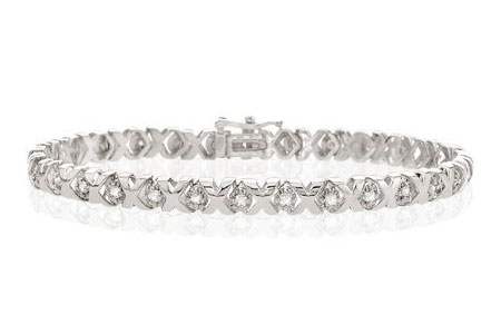 White Gold XO Bracelet